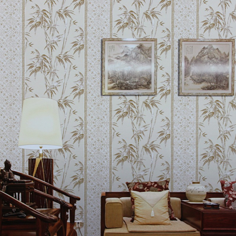 beibehang bamboo wallpaper bamboo living room sofa backdrop wallpaper vertical stripes wallpaper wallpaper nostalgia Chinese beibehang wallpaper vertical stripes 3d children s room boy bedroom mediterranean style living room wallpaper