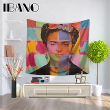 Frida kahlo hippie mandala tapiz tapiz tapices colcha playa toalla yoga mat manta paño de tabla 200*150/150*130 cm