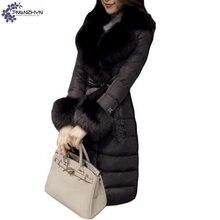 TNLNZHYN winter Women clothing high-end Cotton coat fashion Big yards Thicken warm fur collar female long Cotton Outerwear QQ295