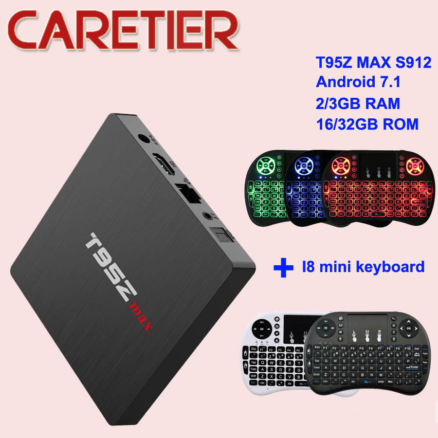 T95 T95Z Max Android 7 1 TV Box Amlogic S912 Octa Core Bluetooth Smart Media Player