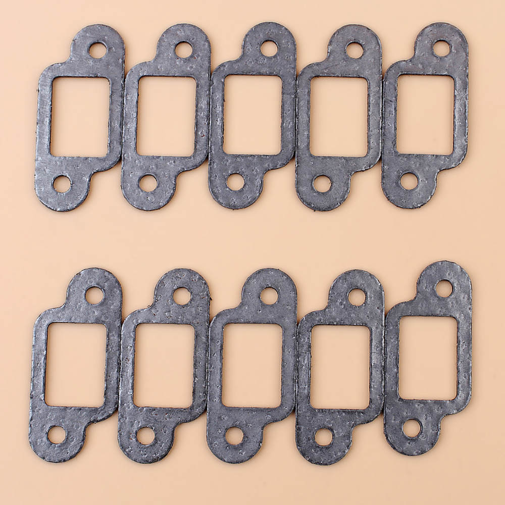 10Pcs MUFFLER GASKET FIT STIHL MS170 MS180 017 018 021 023 025 MS210 MS230 MS250 Chainsaw 11231490500 / 11301490601
