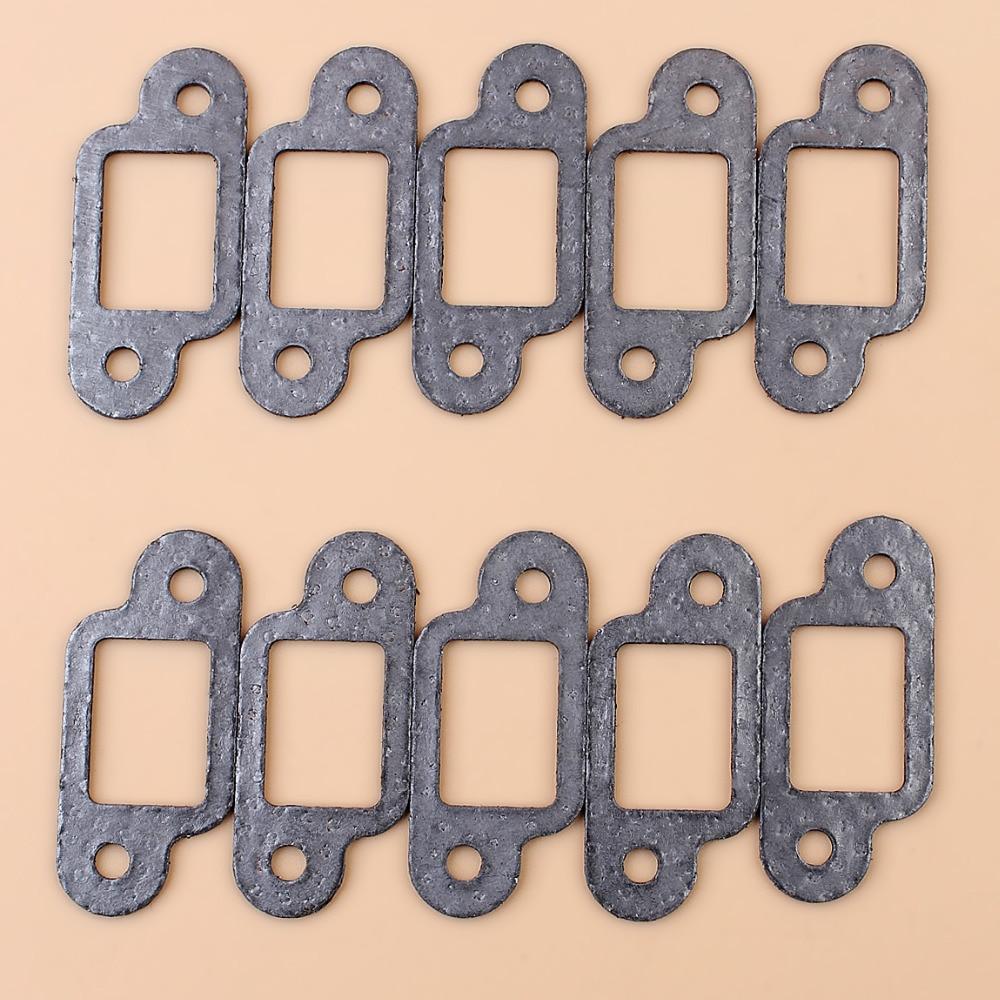 10Pcs MUFFLER GASKET FIT STIHL MS170 MS180 017 018 021 023 025 MS210 MS230 MS250 Chainsaw 11231490500 / 11301490601
