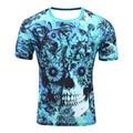 SYJON Mens Fashion flower skeleton/Simpson 3D Printed T shirt Casual Short Sleeve O-neck T-shirt Men Tee Shirts plus size