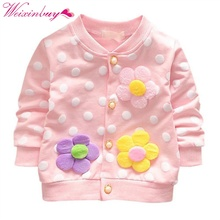 Autumn Baby Coat Girls Cotton Clothes Toddler Cardigan Jacket Floral Print Coat For Kids 0-24M