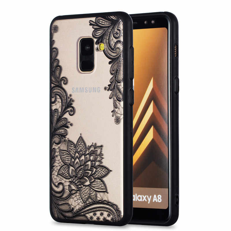 Seksi dantel Retro durumda Samsung Galaxy A6 A8 artı J4 J6 2018 S9 S8 artı S6 S7 kenar j3 J5 J7 A3 A5 A7 2016 2017 kapak