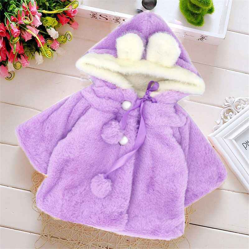 4b73a37a6970b ... Baby girls clothes baby outerwear winter baby clothes bebes Coral  velvet hood outwears cute newborn clothes ...
