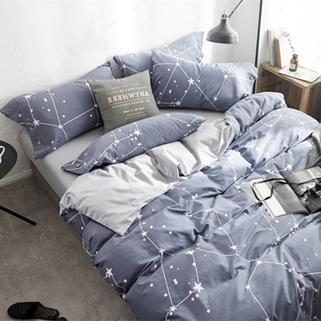 Stars Bed Sheets Nordic Bed Sheet Sets Luxury Bed Cover Queen Size Bed  Sheets Set Nordic