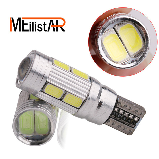 Aluminum Body High Power Car Auto LED Light T10 W5W Canbus 10 SMD 5630 5730 LED Bulbs No Error Led Parking/Clearance/Fog light for mitsubishi asx lancer 10 9 outlander pajero sport colt carisma canbus l200 w5w t10 5630 smd car led clearance parking light