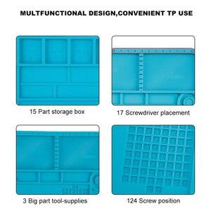 Image 4 - Tapis de soudure de grande taille 55*35cm avec le tapis de travail magnétique de Silicone de réparation pour loutil de soudure de bricolage de téléphone dordinateur électronique