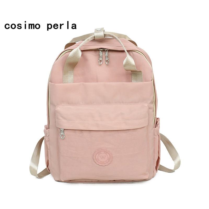 Japan Style Classic Nylon Kanken Backpacks Women Square Laptop Bagpack Schoolbag Brand Solid Travel Rucksacks Mochilas Girls Bag