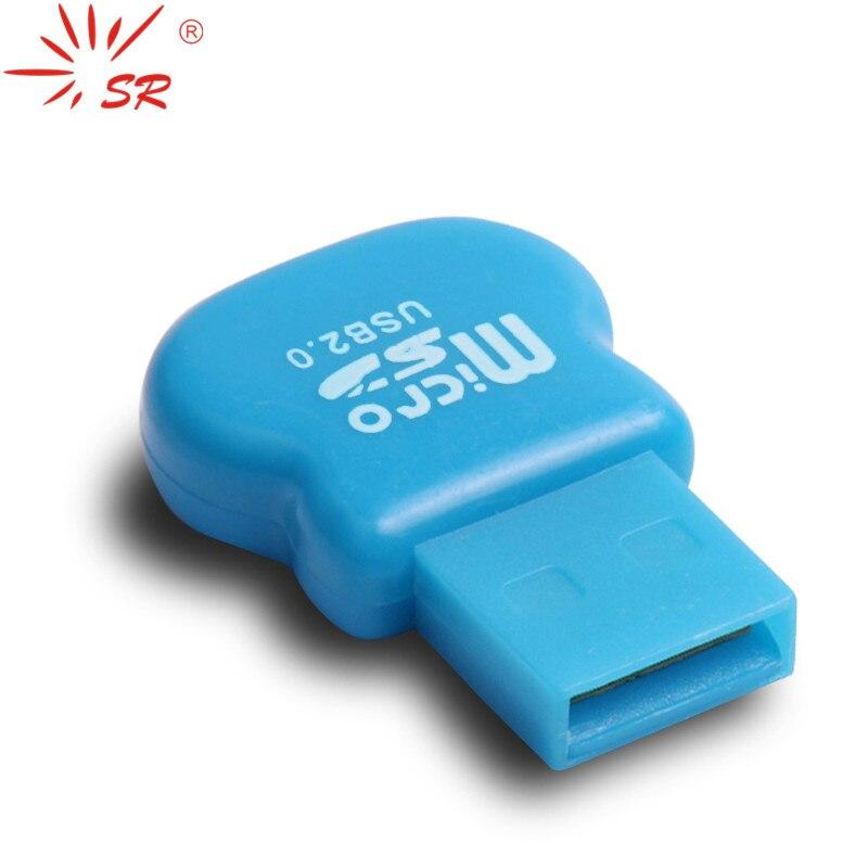 Glylezee USB Kart Okuyucu Güzel Küçük Calabash Şekil Mikro SD TF Hafıza Kart Okuyucular kadar 64 GB