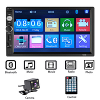 "7 ""auto Radio 2 Din Bluetooth Stereo Multimedia player Autoradio MP3 MP5 Touchscreen Auto Radio Unterstützung Rückansicht kamera-in Auto-Multimedia-Player aus Kraftfahrzeuge und Motorräder bei"