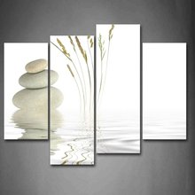 4 Panels Framed Stone posters Painting Canvas Wall Art Picture Home Decoration Living Room Canvas Print Modern Painting/