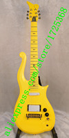 6 string Cloud electric guitar yellow neck with body neck through the bottom of the body free shipping!
