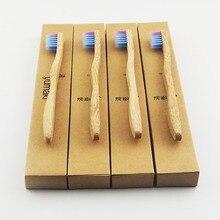 24 шт./партия детская красочная зубная щетка с зубной головкой Экологичная деревянная зубная щетка бамбуковая зубная щетка мягкая щетина Capitellum бамбуковое волокно