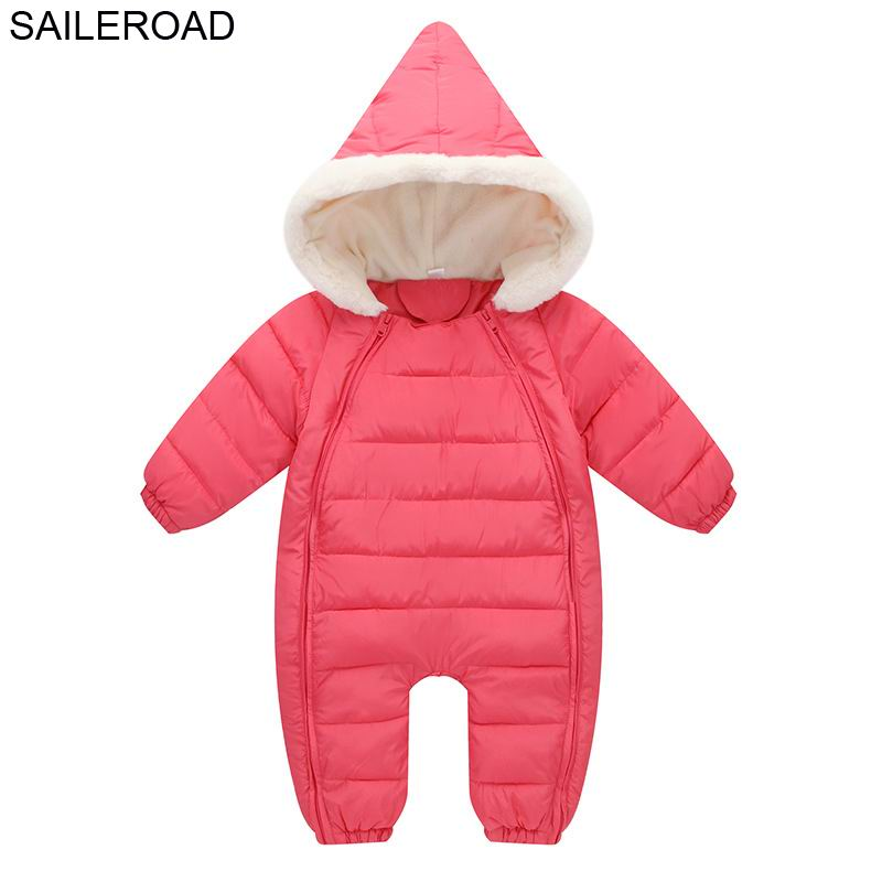 SAILEROAD -10 Degree Wear Winter Baby Boys Girls Romper Winter Cotton Down Infant Kids One-Pieces Rompers Clothing 3-24Months
