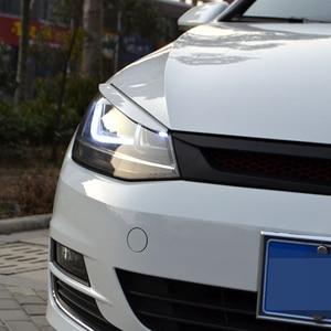 Image 2 - Carmonsons reflektory brwi powieki ABS chromowane wykończenie naklejka na pokrywę dla Volkswagen VW Golf 7 MK7 GTI akcesoria Car Styling