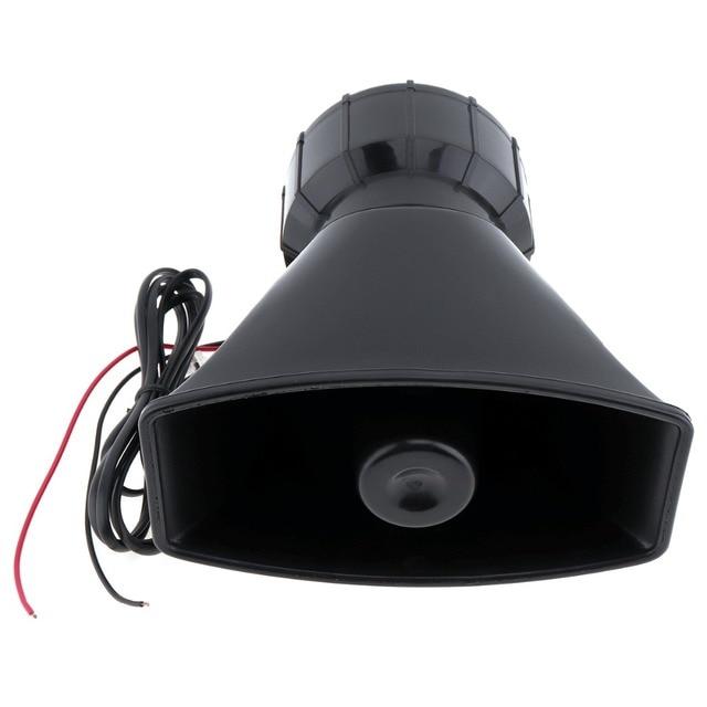 Brand New trwałe plastikowe 100W 7 dźwięk samochodu elektroniczny ostrzeżenie syrena Alarm motocyklowy strażacy pogotowia głośnik z mikrofonem Wielotonowe klaksony    -