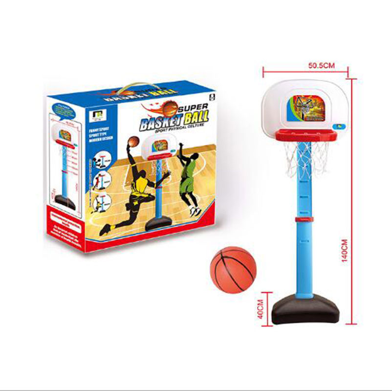 Kids Children Miniature Basketball Hoops Set Stands Adjustable with Inflator Toys for Boys 140cm Outdoor Fun Sports