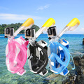 Cara llena Máscara de Snorkel de Buceo Deportes Acuáticos gafas Anti-niebla Anti-Fuga Seaview Submarinismo Natación Snorkel Set Para Gopro cámara