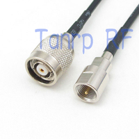 Fme 남성 플러그에 6in RP-TNC 남성 플러그 rf 커넥터 어댑터 15 cm 피그 테일 동축 점퍼 케이블 rg174 연장 코드