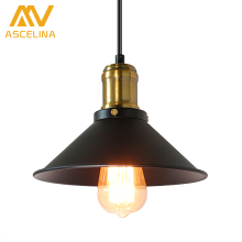 ASCELINA American Retro Industrial Wind Style Pendant Lights Creative Rustic Style Hanging Lamps Bar Cafe Restaurant Iron e27