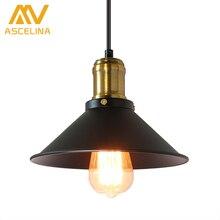 ASCELINA American Retro Pendant Lights Industrial Creative Rustic Style Hanging Lamps pendant lamp Bar Cafe Restaurant Iron e27