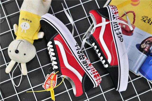 Authentic VANS Old Skool Skateboarding Shoes Sneakers VANS Off The Wall Men's/Women's Sports Shoes DF18 Size Eur 36-44