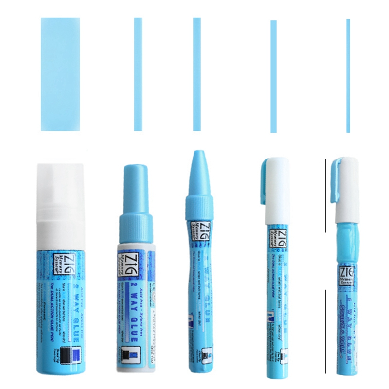 Japan Kuretake ZIG Environmental Protection Coloured Glue Pen Adhesives Super Glue DIY Hand Work Glue Pens Office School Supply