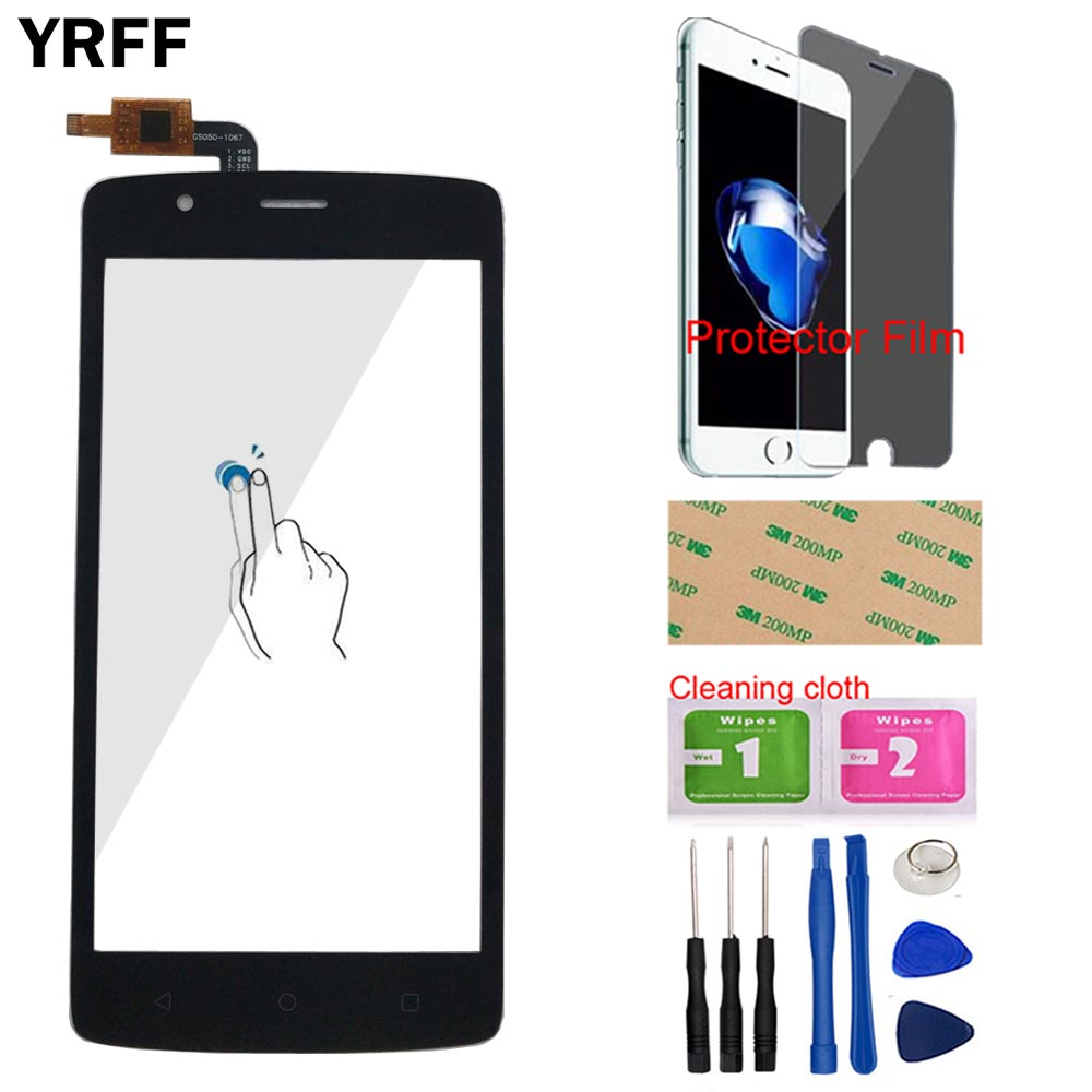 YRFF Mobile Touch Screen Panel For Fly Cirrus 3 FS506 Touch Screen Capacitive Digitizer Front Glass Panel Sensor +Protector FilmYRFF Mobile Touch Screen Panel For Fly Cirrus 3 FS506 Touch Screen Capacitive Digitizer Front Glass Panel Sensor +Protector Film