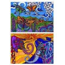 5D DIY full round diamond painting animal mosaic cross stitch colorful elephant embroidery