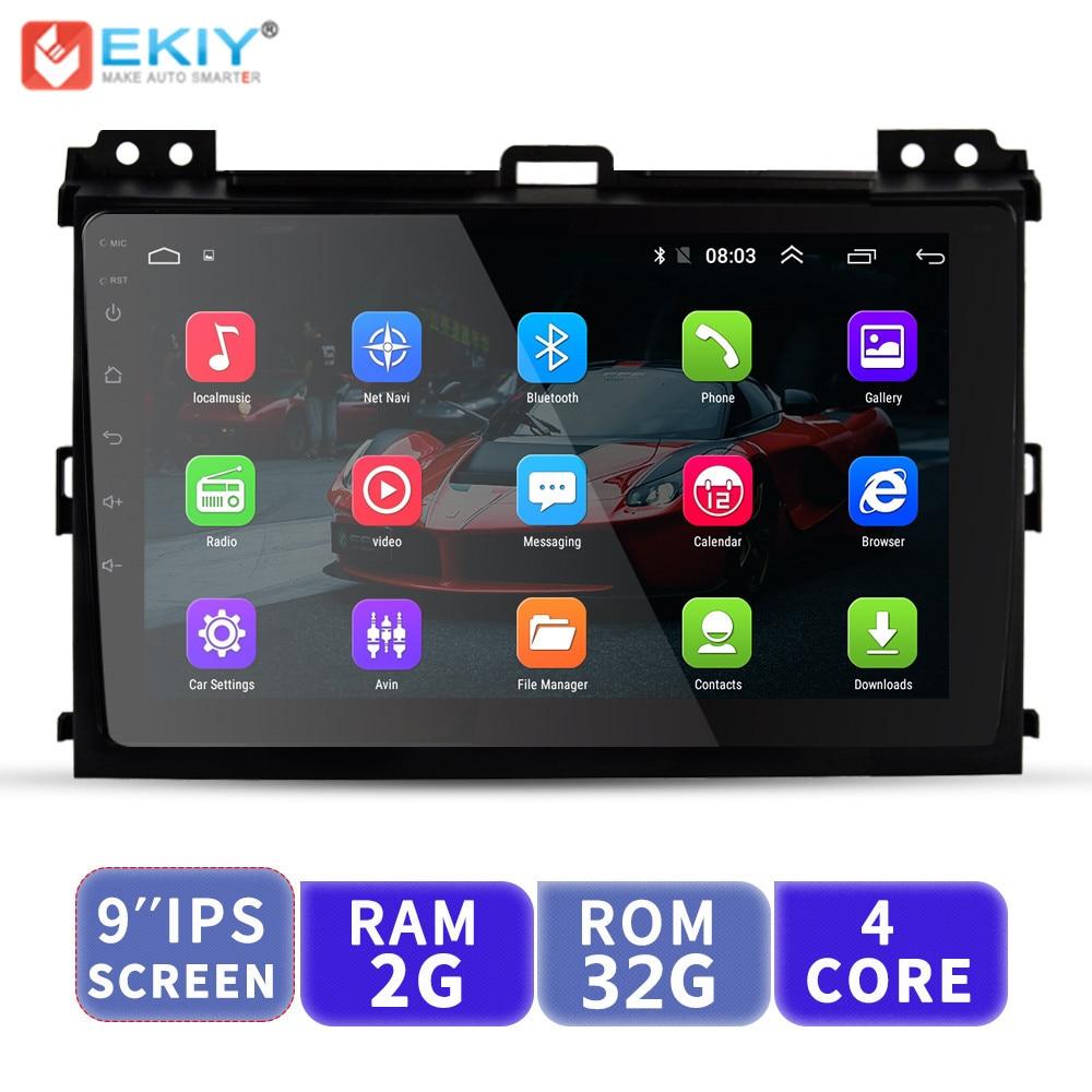 EKIY 9'' Android Car Multimedia Player No 2 Din Auto Radio For Toyota Land Cruiser Prado 120 2004 2009 GPS Navigation Head Unit
