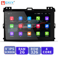 EKIY 9'' Android Car Multimedia Player No 2 Din Auto Radio For Toyota Land Cruiser Prado 120 2004 2009 GPS Navigation Head Unit