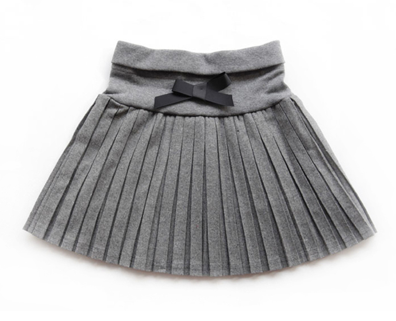 New-2017-Toddler-girls-SpringAutumnwinter-clothing-girls-bust-skirt-thin-woolen-pleated-skirt-blackgray-3T12-wholesale-2
