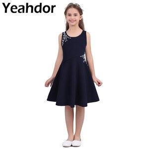 Image 1 - フラワーガールのドレス子供の子供の女の子ノースリーブ見事なラインストーン王女のためパーティーカジュアル夏