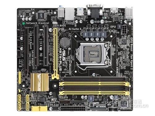 все цены на mainboardASUS H87M-PLUS desktop motherboard H87 DDR3 LGA 1150 motherboard LGA 1150 i7 i5 i3 DDR3 32G SATA3 UBS3.0 онлайн