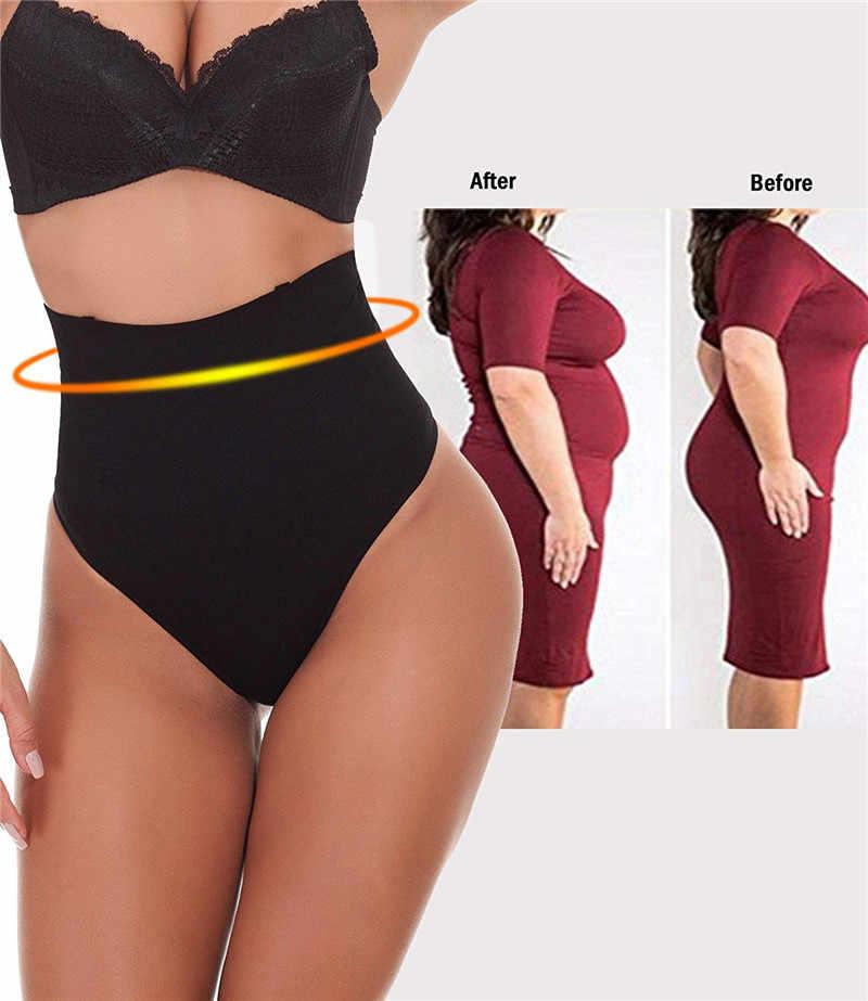 383193babd ... NINGMI Sexy Thong Shapewear Butt Lifter Women High Waist Trainer Tummy  Control Panties Knicker Slimming Underwear ...
