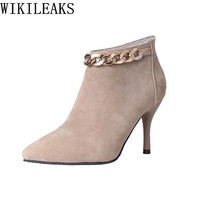 Female Winter Boots Ankle Boots For Women Shoes Woman Suede Boots High Heel Boots Botas Mujer