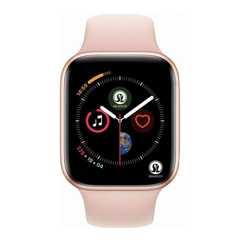 Montre intelligente en or ROSE série 4 Smartwatch pour apple iphone 6 6s 7 8 X XS plus pour samsung IOS android montre intelligente honor3 xiaomi