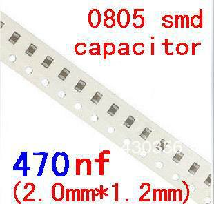 200pcs/lot  0805 Smd Capacitor 22nf 47nf 100nf 220nf 470nf 1uf 2.2uf 4.7uf 10uf 22uf 47uf