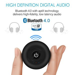 Multipoint Wireless Bluetooth Transmitter For Audio TV 3.5mm Jack Aptx Music AUX Bluetooth 4.0 Adapter For Two Headphones(China)