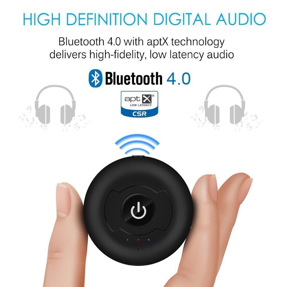 Multiponto Sem Fio Bluetooth Transmissor Para TV Áudio 3.5mm Jack AUX Música Aptx Bluetooth 4.0 Adaptador Para Dois Fones De Ouvido