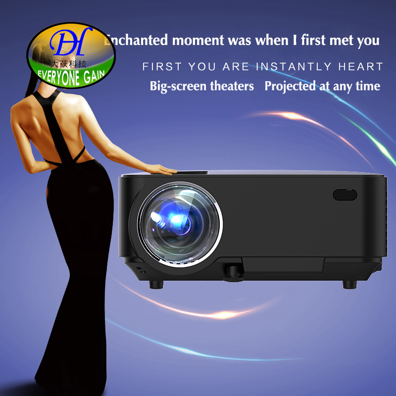 Everyone Gain 2000lumens Projector Android 4.4 HD LED Wifi Smart Projector home theater LCD Video Proyector TV mini290A Beamer everyone gain blu ray 3d smart android projector wifi bt dlp tv led home theater proyector with touch button dh a70 beamer