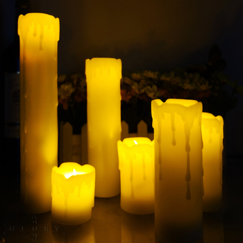 6 Pieces Flickering Remote Control Led Candle Include Batteries