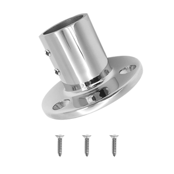 316 Stainless Steel Boat Hand Rail Fitting 25mm/ 1inch 90 Degree Round Stanchion Base boat hand rail center stanchion stainless steel top cap fitting boat marine stainless steel universal for boat