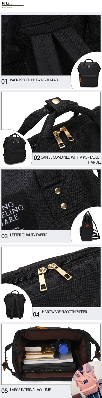 HTB1qAXwXN2rK1RkSnhJq6ykdpXao Fashion Backpack High-capacity Knapsack Women Backpack Pure Color Teenager Backpack Female Bag Mochila Bagpack Shoulder Bag 2019