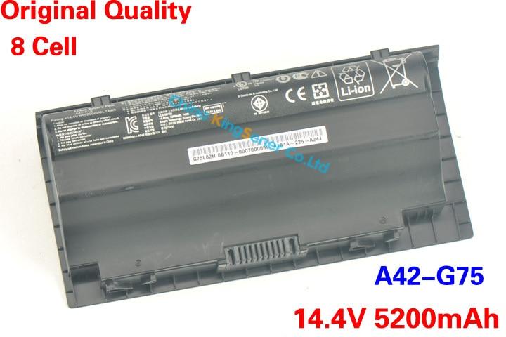 ФОТО 14.4V 5200mAh Japanese Cell Original Quality New Laptop Battery A42-G75 for ASUS G75 G75V G75VM G75VW G75VX 74WH 8CELLS
