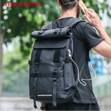 High-quality trend roll cover riding backpack large capacity travel mountaineering bag