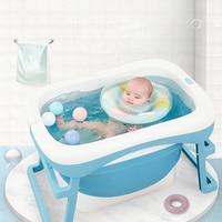 2019 Hot Sale Baby Bath Children Bucket Folding Baby Newborn Bath Folding Baby Shower Foldable Non Slip Bathtub Safety Security
