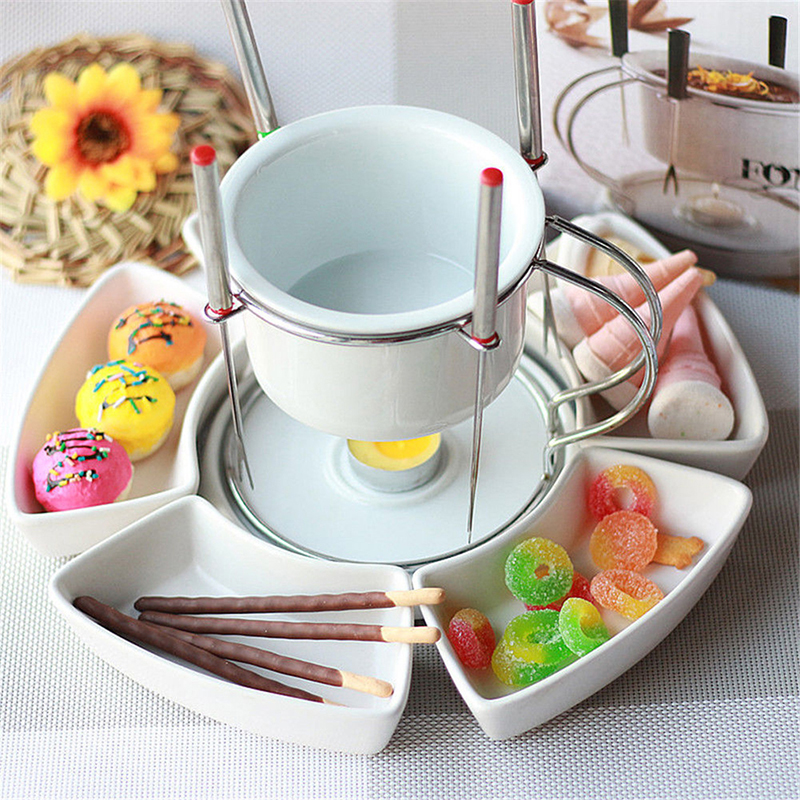 Other Dessert Tools Provided 6pcs/set Stainless Steel Chocolate Cheese Fruit Dessert Hot Pot Fondue Melting Skewer Kitchen Tableware Tools Strengthening Waist And Sinews